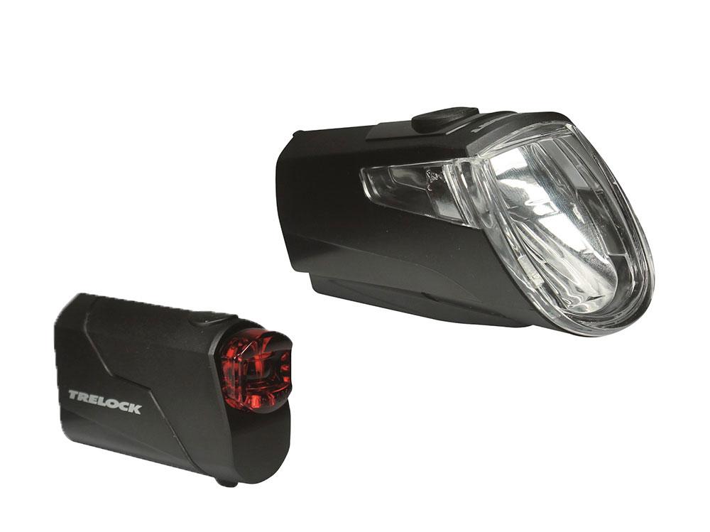 Trelock LS 360 I-Go Eco + LS 720 Reego Set 15 Lux | schwarz