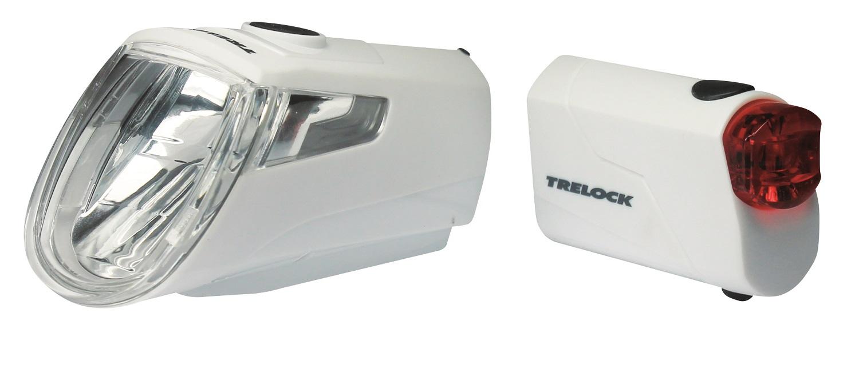 Trelock LS 360 I-Go Eco + LS 720 Reego Set 15 Lux | weiß