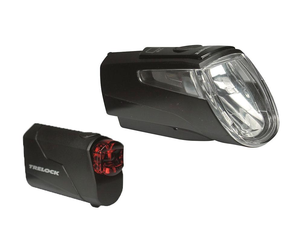 Trelock LS 460 I-Go Power + LS 720 Reego Set 30 Lux | schwarz