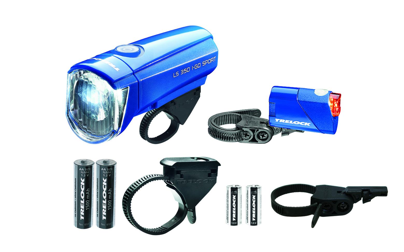 Trelock LS350/710 Kombi-Set 15 Lux | blau
