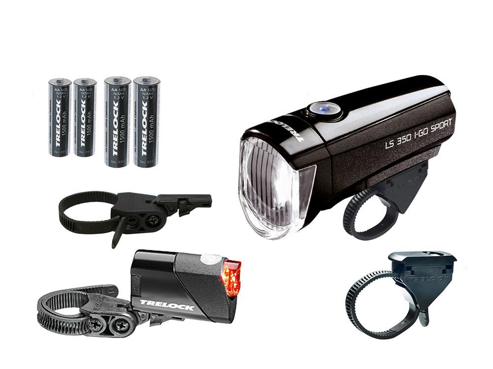 Trelock LS350/710 Kombi-Set 15 Lux | schwarz